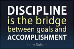 Discipline is the Bridge between Goals and Accomplisment