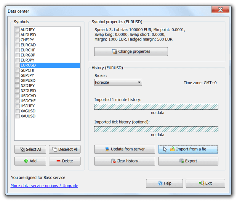 Forex Tester 3 - Import From a File