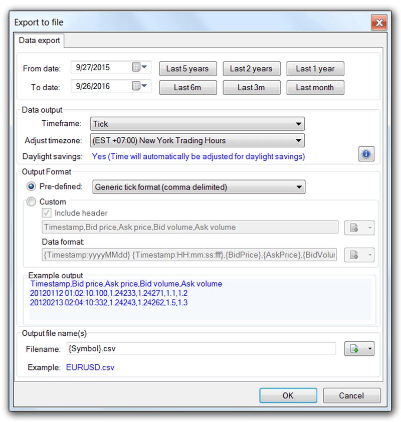 Tickstory - Export Data